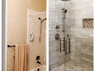 Bathroom Remodeling company Comfort TX before after image