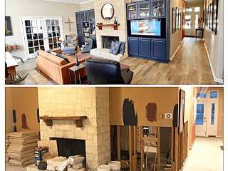 Home Remodeling company Comfort TX before after image