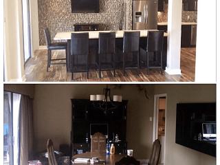 Kitchen renovation before after image