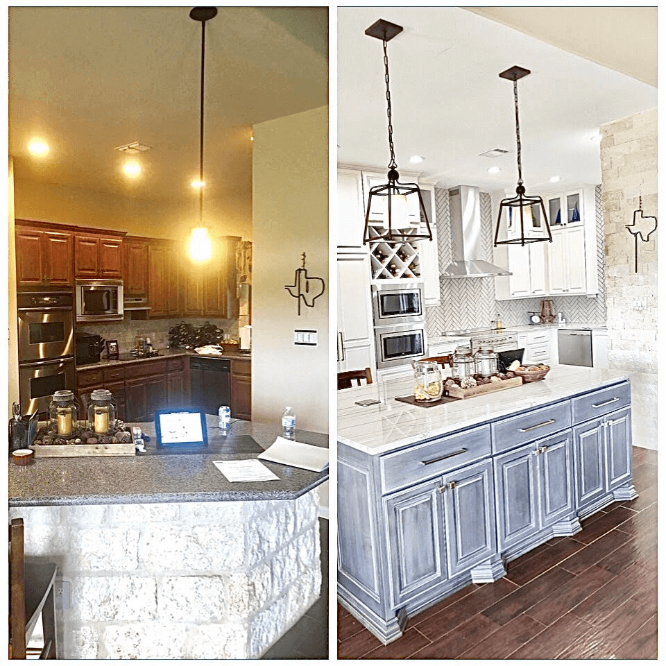 Kitchen remodeling before after image