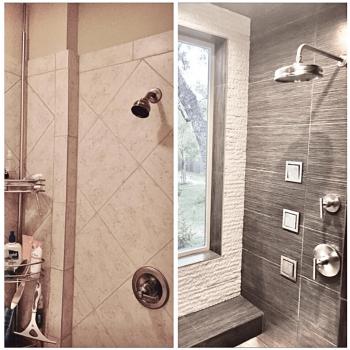 Bathroom remodeling service before after image