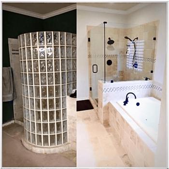 Bathroom Remodeling before after image