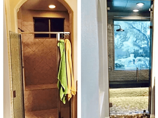 Bath remodelling leon springs before after image