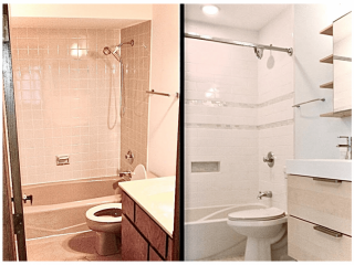 Bathroom remodeling ideas Timber wood park before after image
