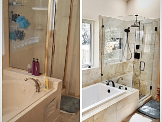 Bathroom Remodeler Boerne Tx before after image
