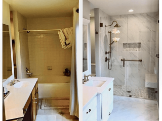Bathroom Remodeling company before after image