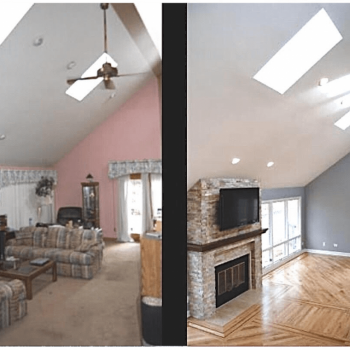 Home remodeling Texas Hill Country before after image
