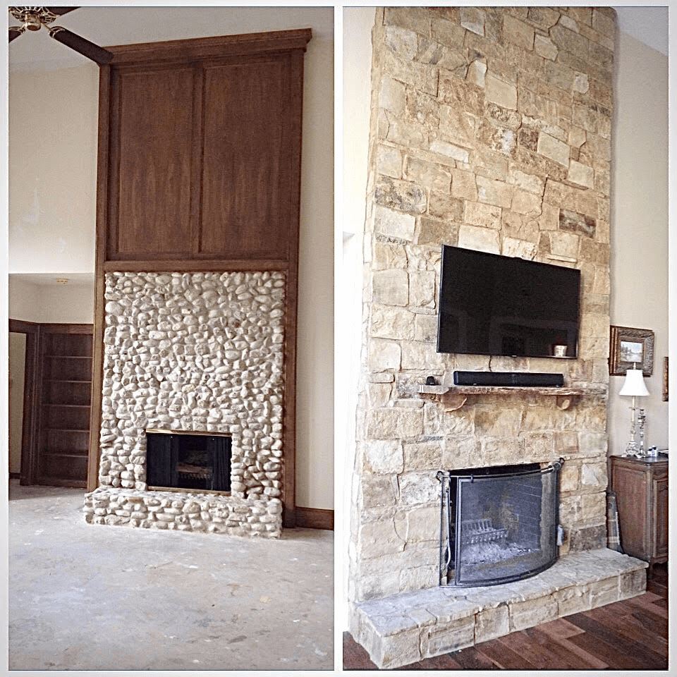 Home renovation service Kerrville Tx before after image