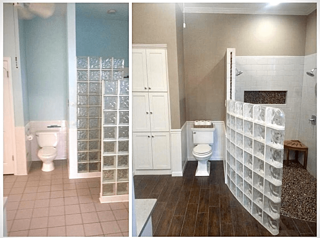 Bathroom Remodeling Contractor before after image